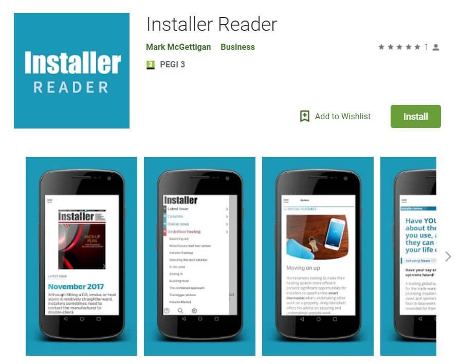 Installer Reader App Google Play Listing Screenshot