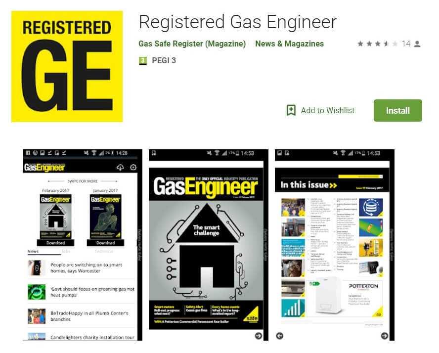 Registered Gas Engineer Google Play Listing Screenshot