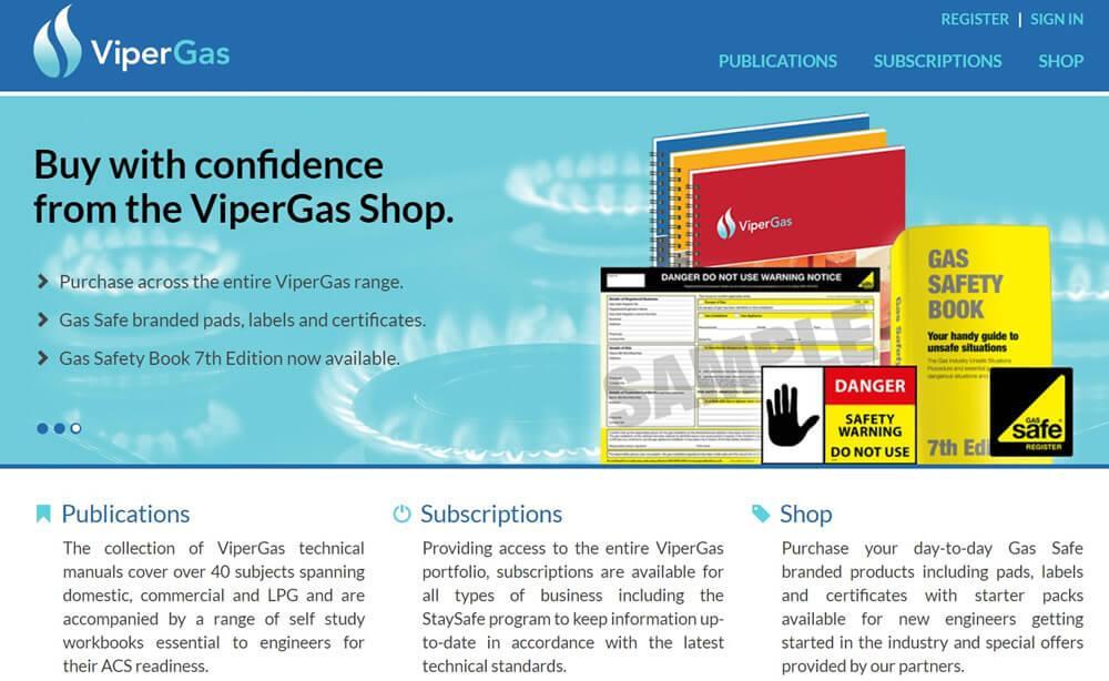 ViperGas Website Screenshot